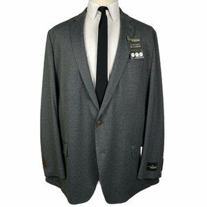NWT Haggar In Motion Tailored Sport Coat 52L Gray